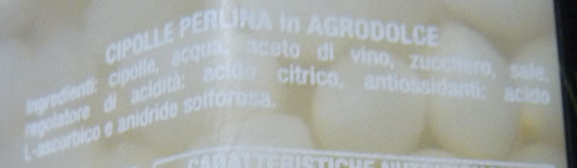 Golosi e sfiziosi Cipolle Perlina in agrodolce - Ingrédients