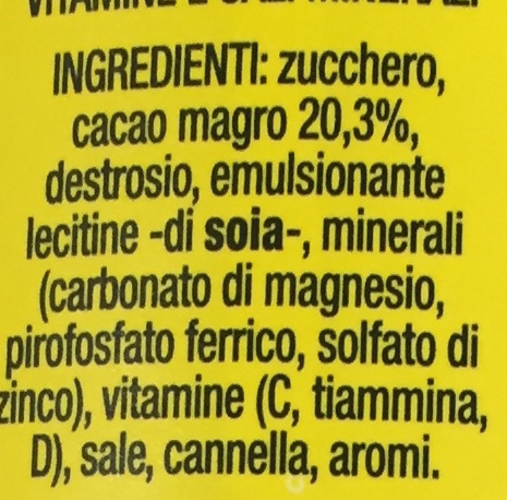 Nesquik - Ingredienti - it
