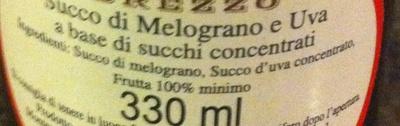 Succo di melograno - Ingrédients