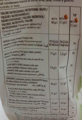 Con Frutta - Biscuits sablés - Informations nutritionnelles - fr