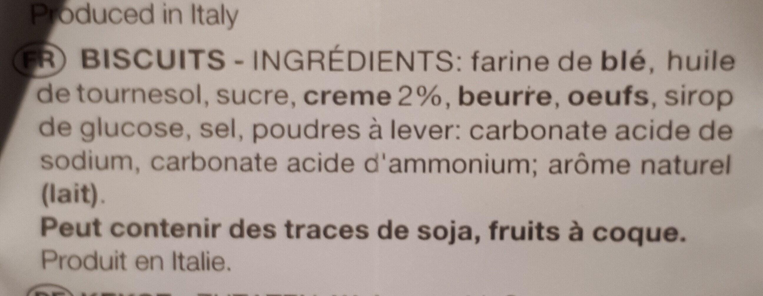 Biscotti del buongiorno - Ingrédients - fr