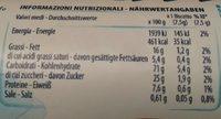 Bucaneve 200G - Informations nutritionnelles - fr