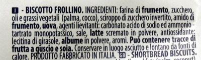 Bucaneve Biscotto frollino - Ingredienti - it