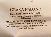 Grana Padano 20 mesi - Ingrediënten - fr