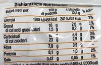 Biscotti ai cereali - Valori nutrizionali - it