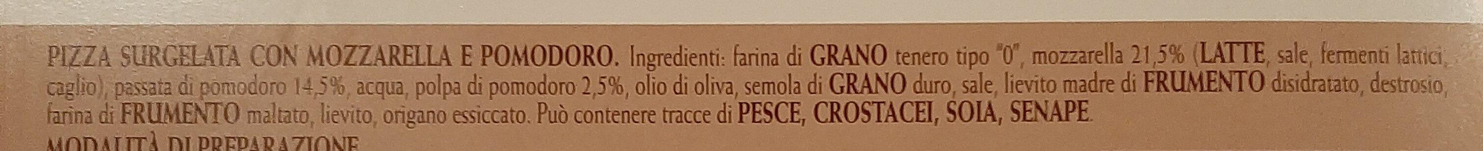 Pizza Margherita - Ingrédients - it