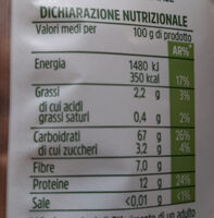 Penne rigate integrali - Informations nutritionnelles - it