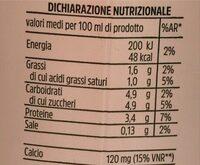 Latte parzialmente scremato - Valori nutrizionali - it
