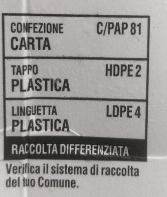 Latte parzialmente scremato - Istruzioni per il riciclaggio e/o informazioni sull'imballaggio - it