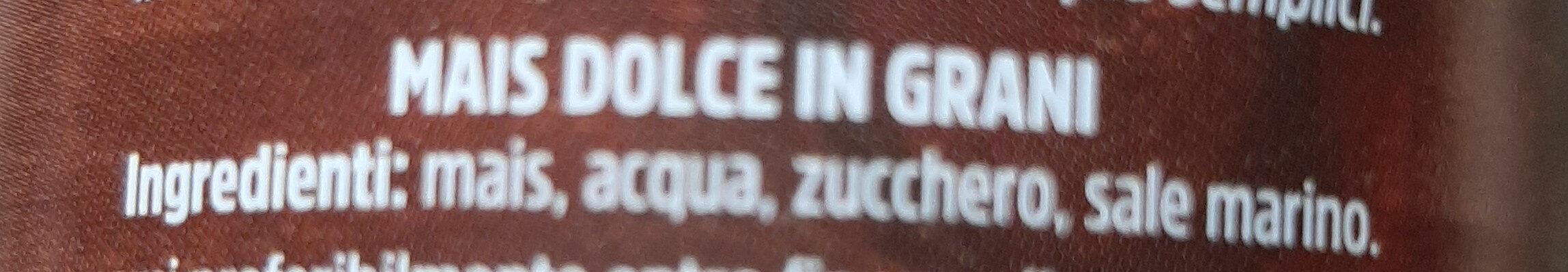 Mais dolce in grani - Ingrédients - it