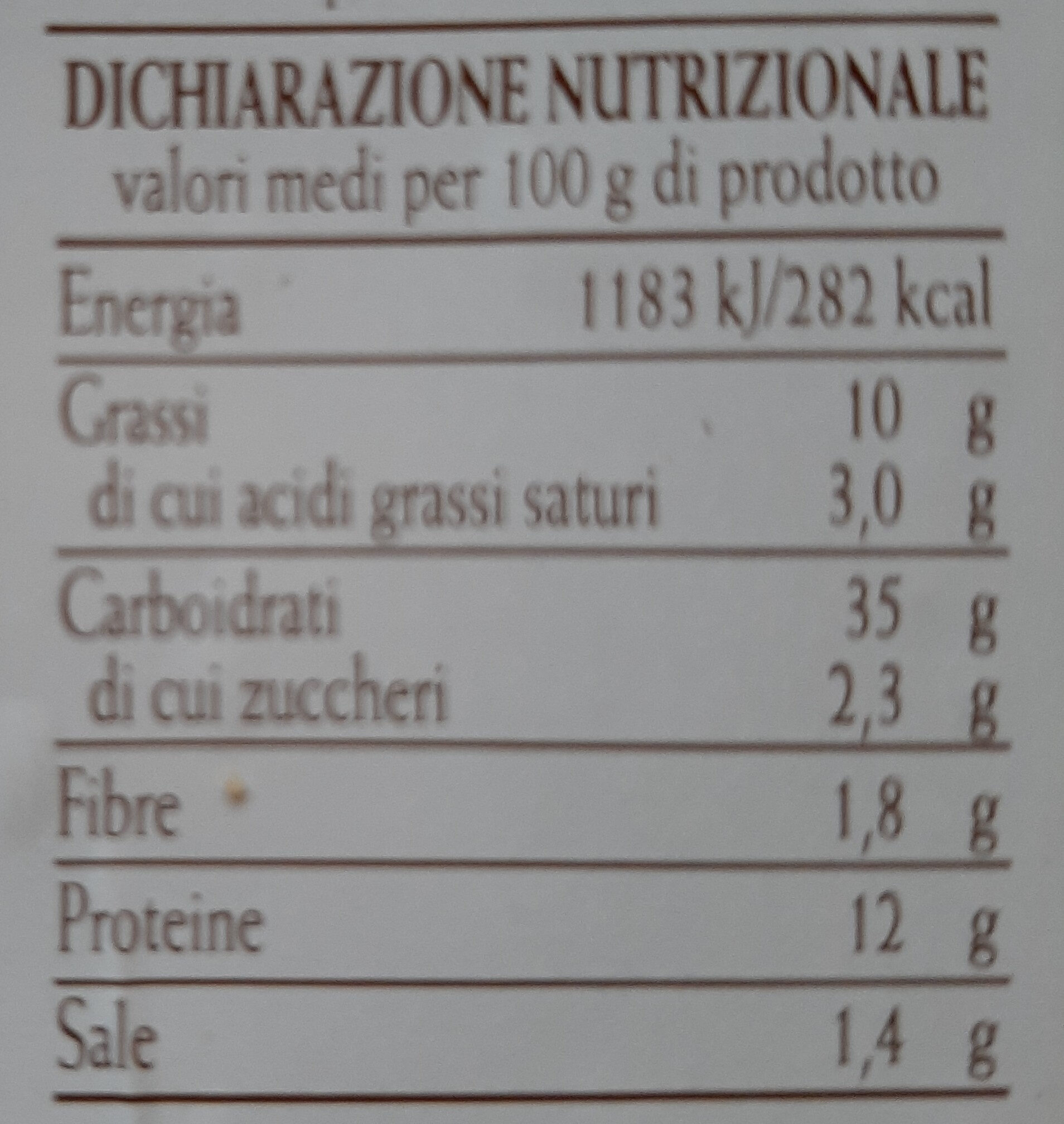 Ravioli alla borragine - Informations nutritionnelles - it