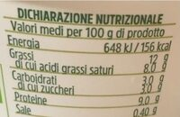 Ricotta Biologica - Nutrition facts - it