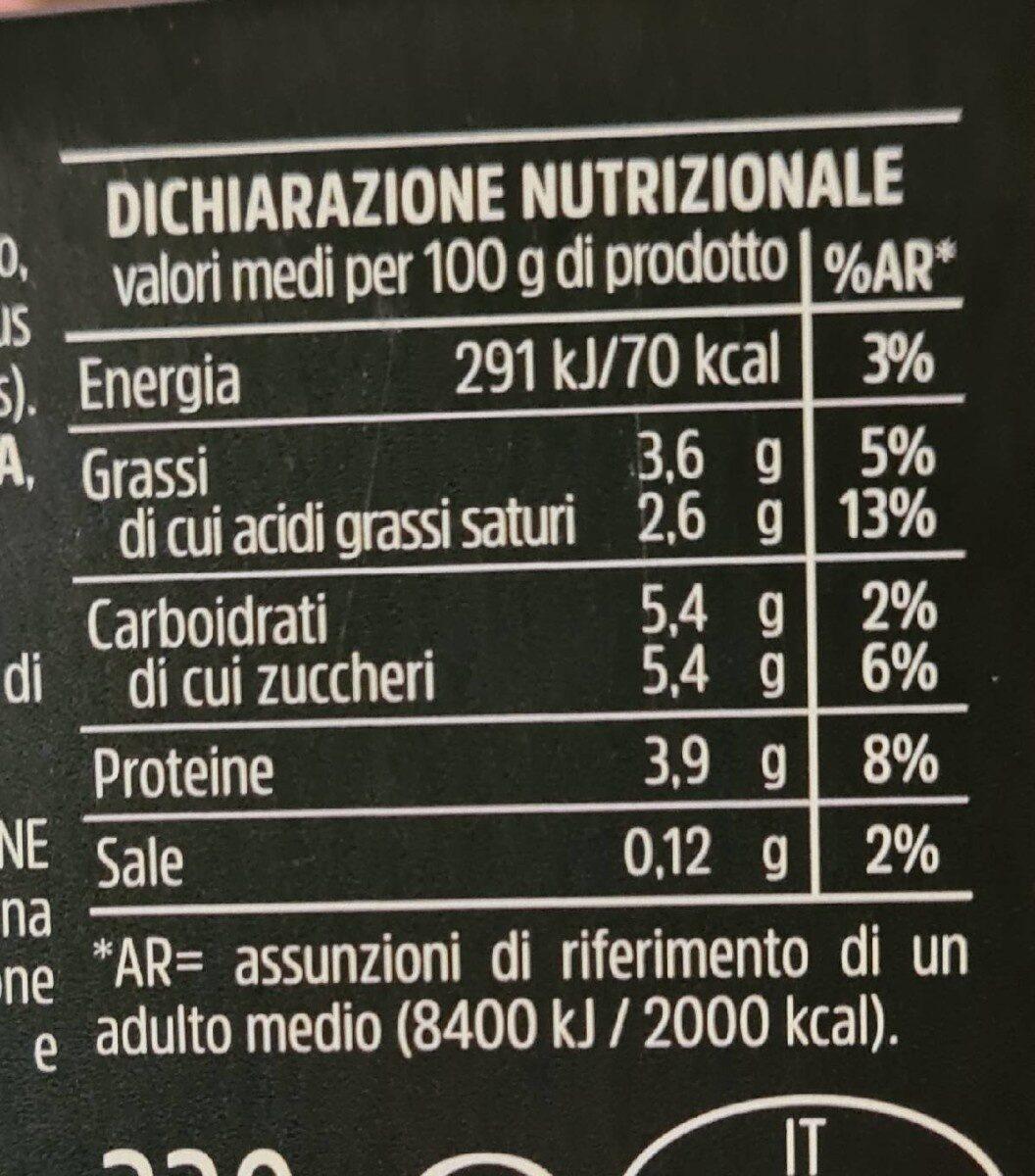 Yogurth intero bianco - Nutrition facts - it