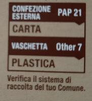 Chicche tricolori con patate, zucca e basilico - Instruction de recyclage et/ou information d'emballage - it