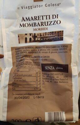 Amaretti di mombaruzzo - Informations nutritionnelles - it