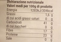 Lenticchie Mignon - Valori nutrizionali - fr