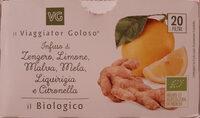 Infuso di zenzero, limone, malva, mela, liquirizia e citronella - Producto - it
