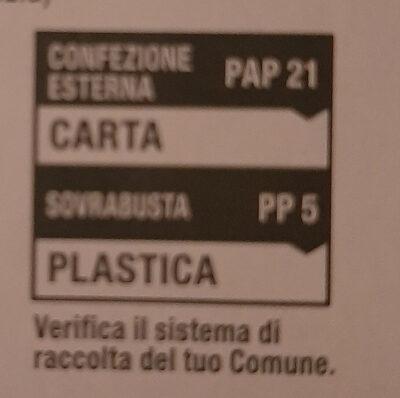Infuso di zenzero, limone, malva, mela, liquirizia e citronella - Instrucciones de reciclaje y/o información de embalaje - it