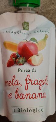Purea di mela, fragola e banana - Produit - it