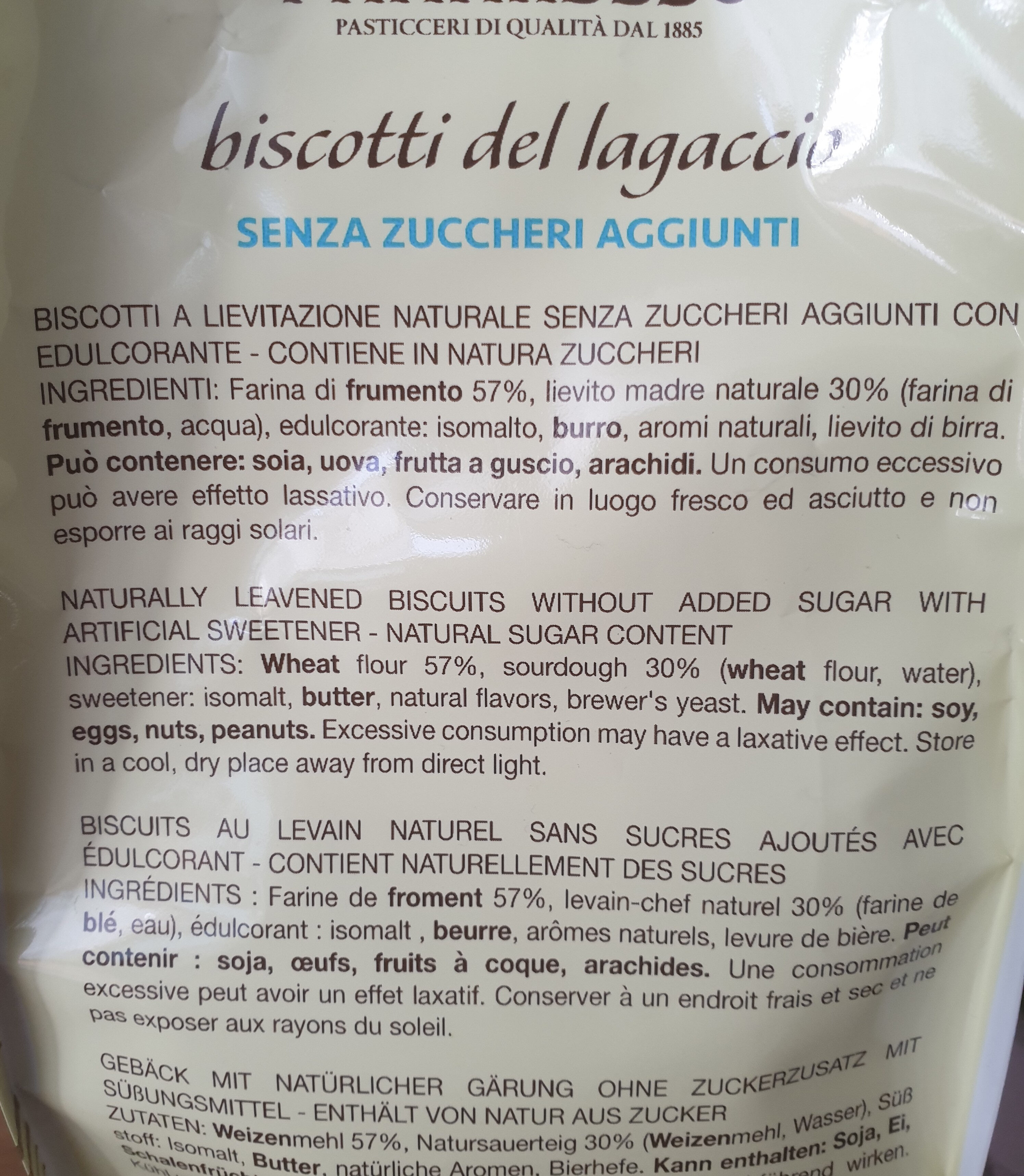 biscotti lagaccio - Ingredients
