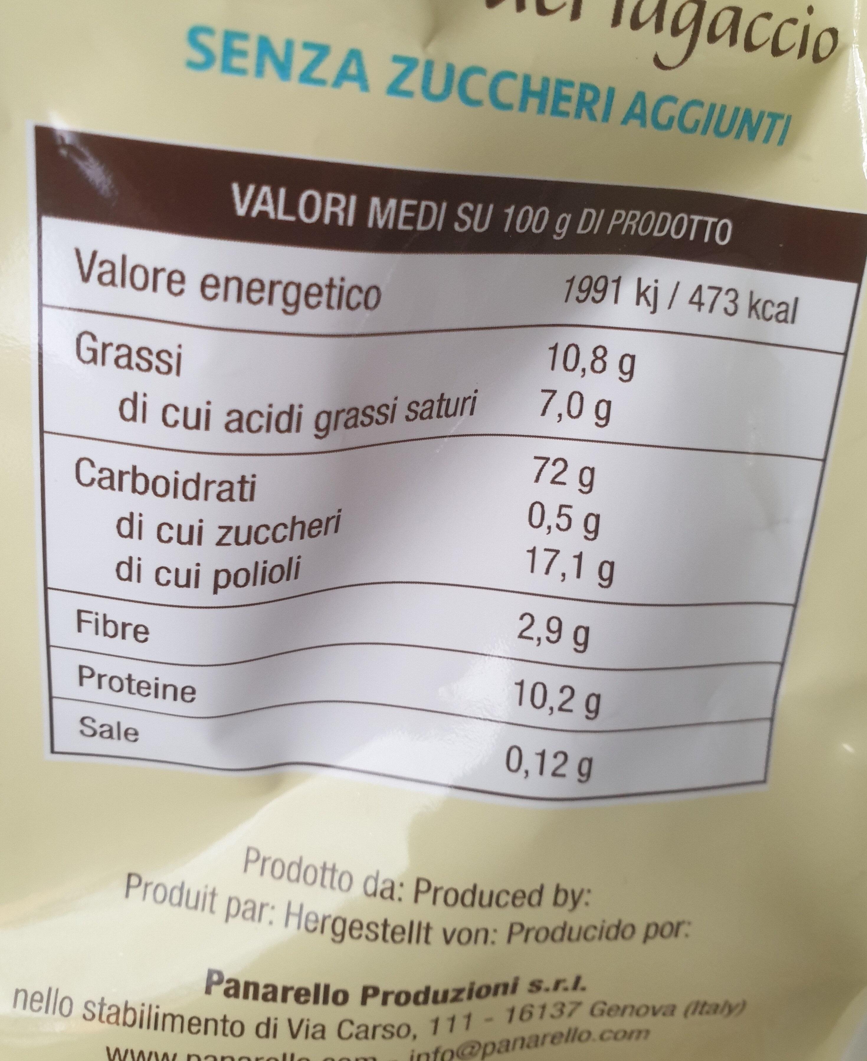 biscotti lagaccio - Nutrition facts