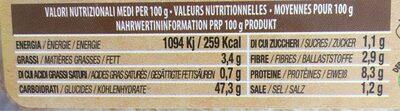Brushetta - Voedingswaarden - fr