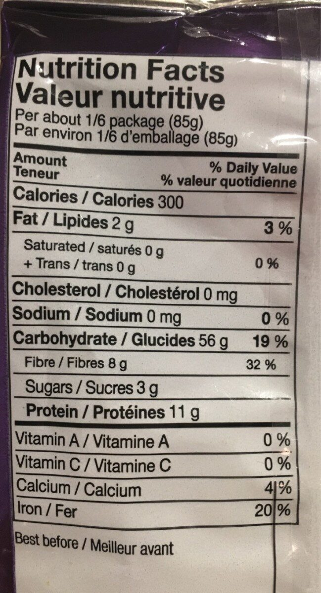 Penne rigate - Nutrition facts