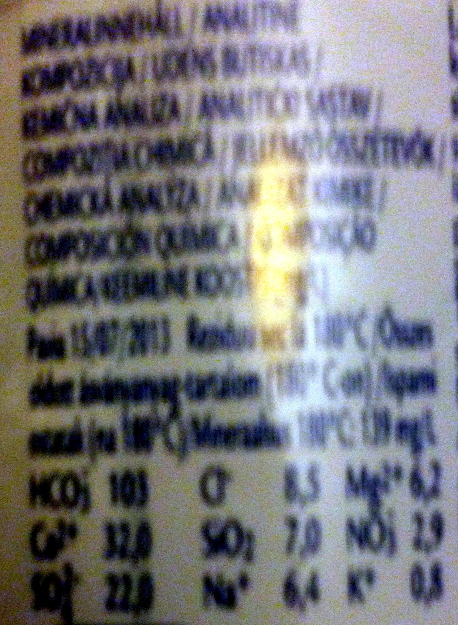 Acqua panna - Voedingswaarden - en