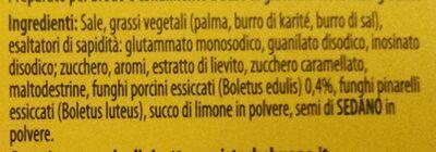Funghi porcini 10 dadi - Ingrediënten