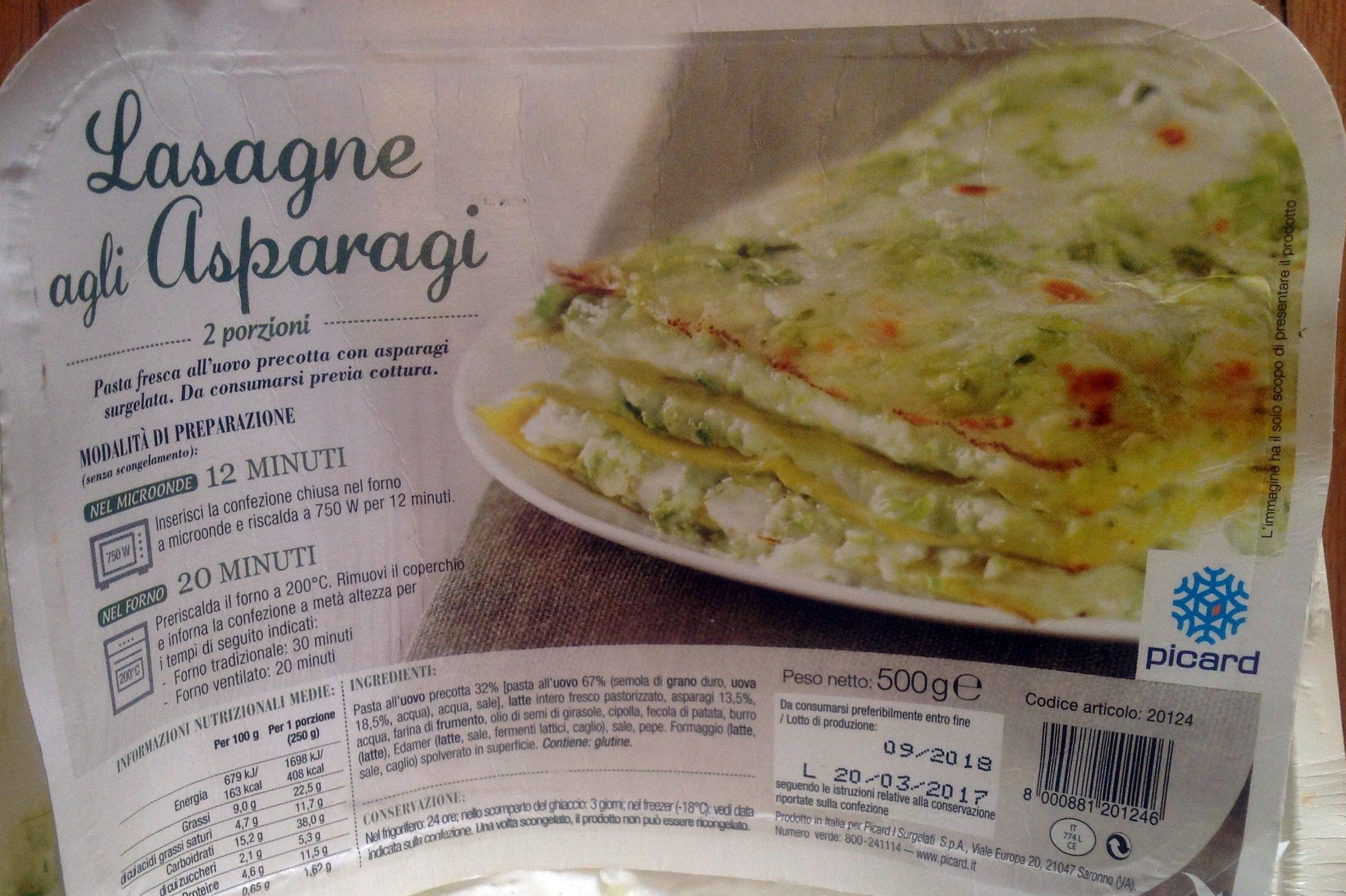 Lasagnes aux Asperges Vertes - Prodotto