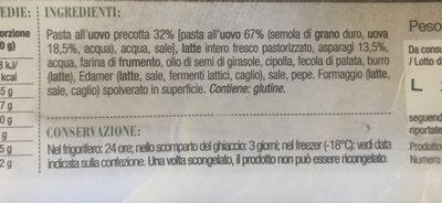 Lasagnes aux Asperges - Ingredienti