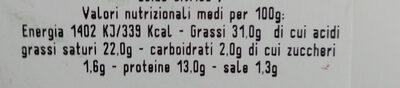 Duetto - Informazioni nutrizionali - it