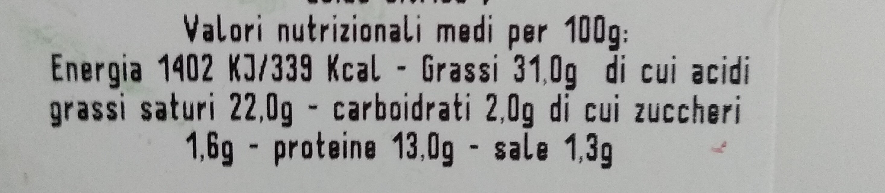 Duetto - Nutrition facts - it