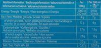 Viennetta Vanille - Nutrition facts