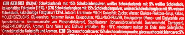 Viennetta Chocolate - Inhaltsstoffe