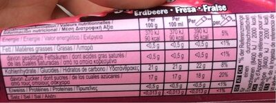 Fresa - Nutrition facts - fr