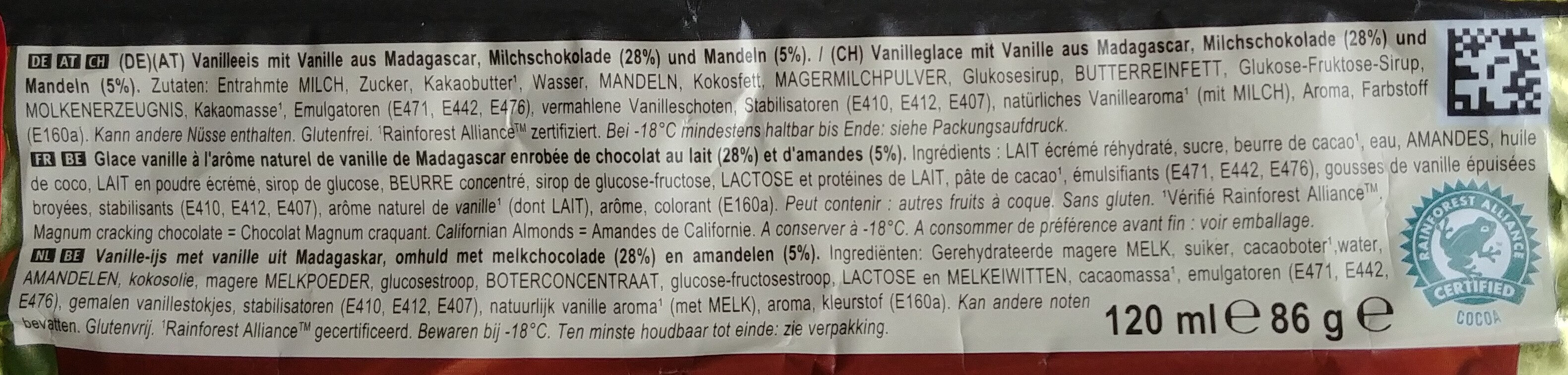 Magnum Almond - Ingredients - de