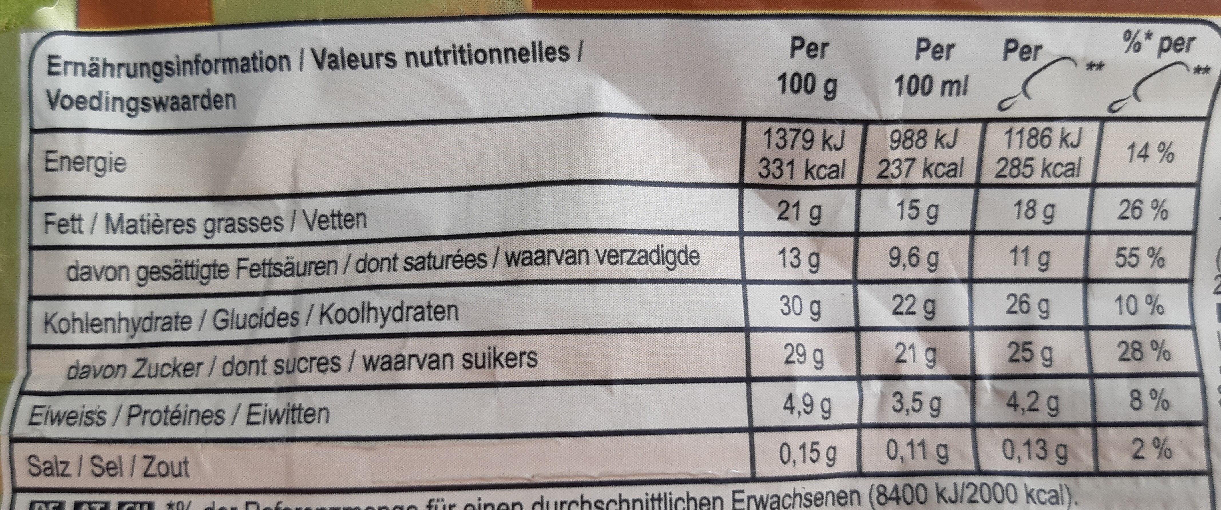 Magnum Almond - Voedingswaarden - de