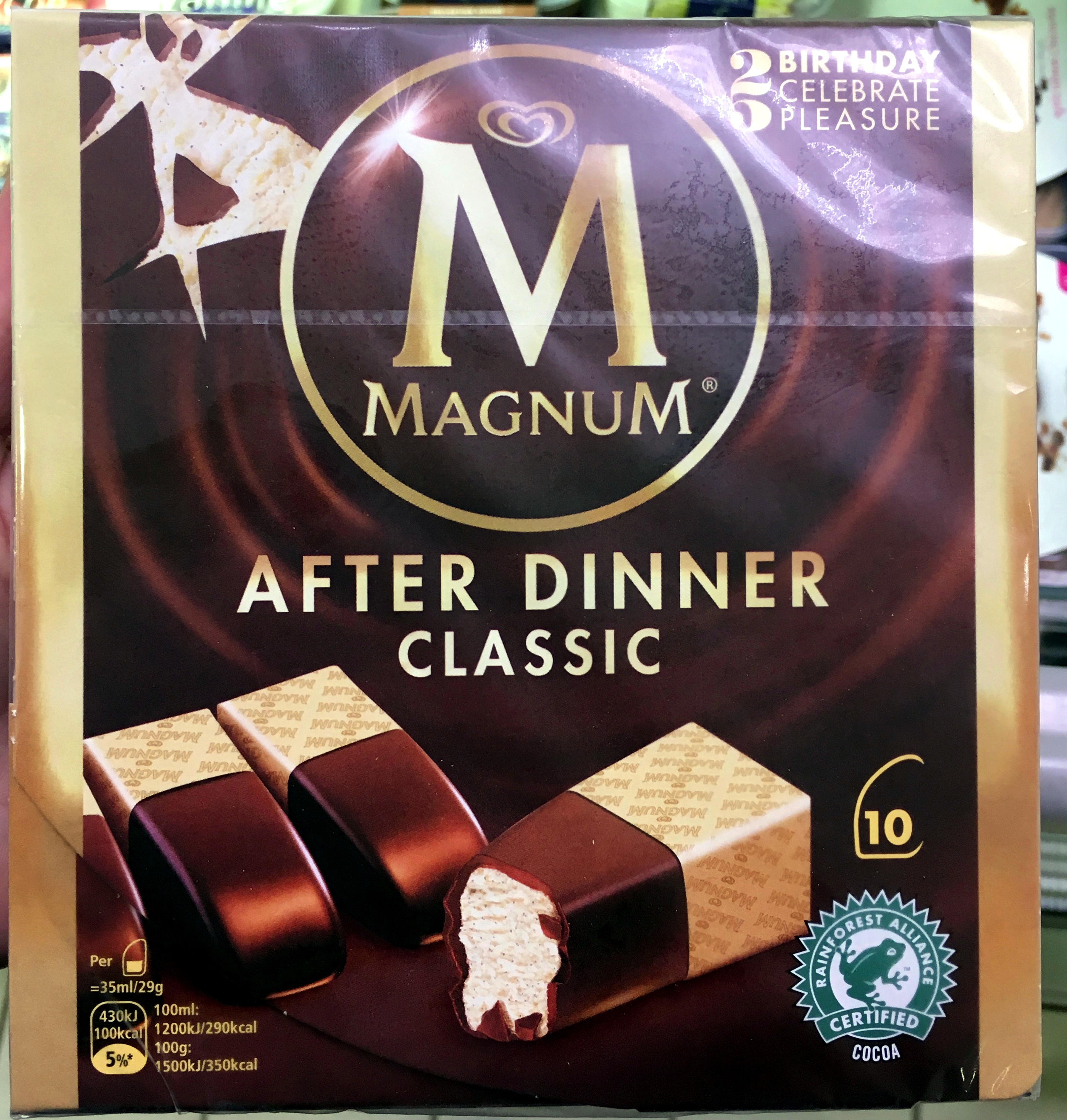 Magnum Barre Glacée After Dinner x10 350ml - Prodotto - fr
