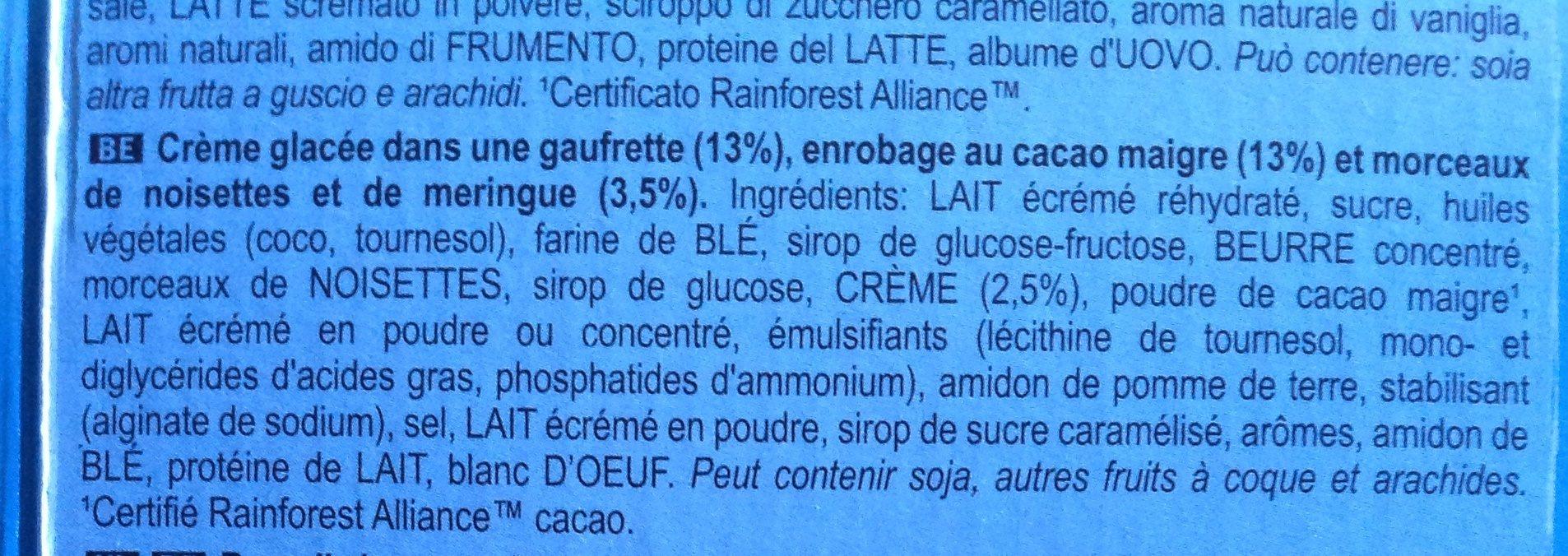 Algida Cornetto Classico x - Ingredienti - fr
