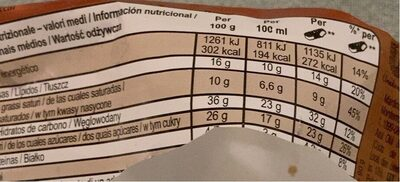 Magnum Sandwich - Nutrition facts
