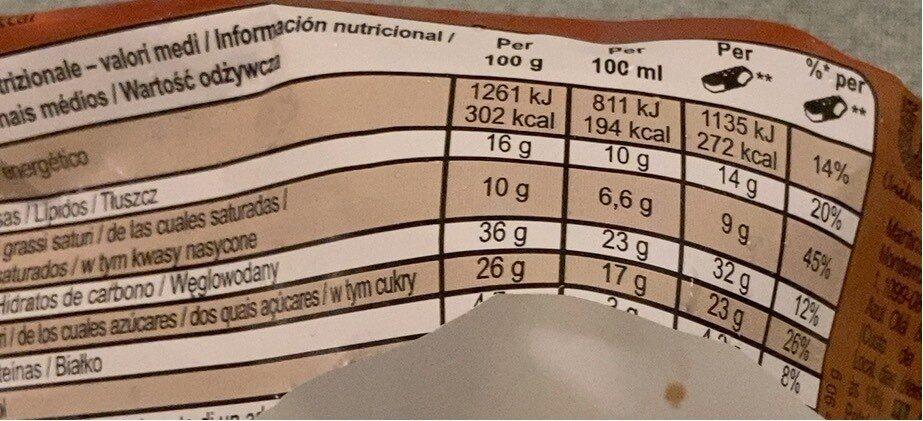Magnum Sandwich - Voedingswaarden - es