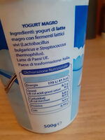 yogurt magro - Ingrédients - it
