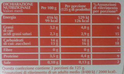 Yogurt intero Vaniglia cremoso - Nutrition facts