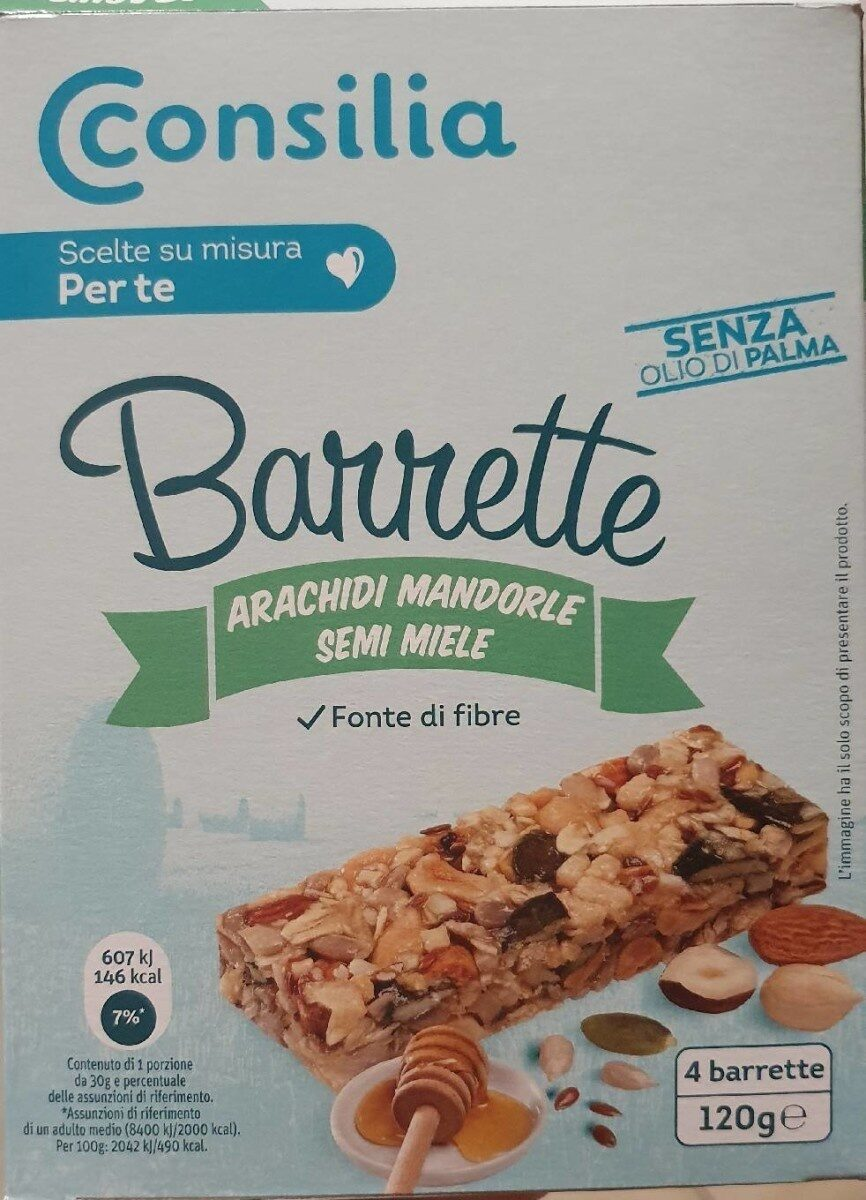 Barrette - arachidi mandorle semi miele - Produit - it