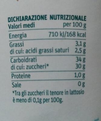 Gelato al lampone - Voedingswaarden - it
