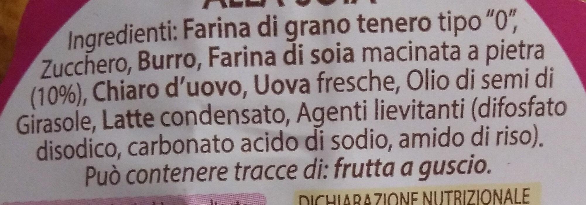 Biscotti alla soia - Ingredients - it