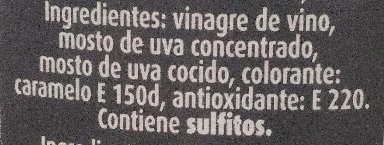 Aceto balsamico di modena - Ingredientes
