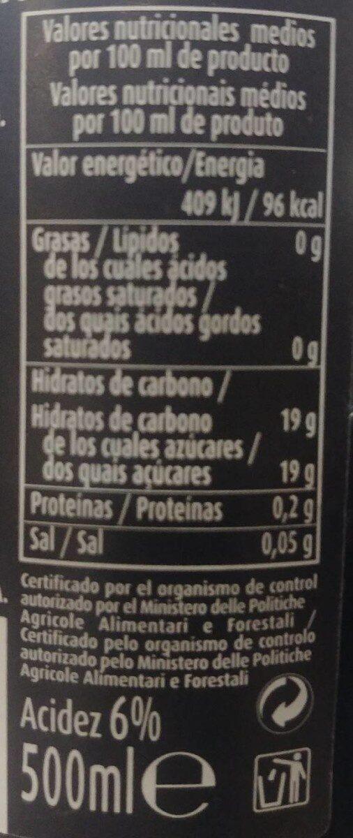 Aceto balsamico di modena - Información nutricional