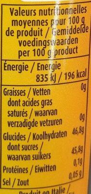 Crème Gastronomique Bio au Vinaigre Balsamique de Modène IGP - Nutrition facts